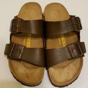 New Birkenstock Arizona Brown Sandals 37